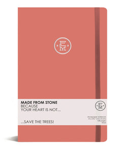 SKU : 1343 - Peach - Stonepaper Notebook