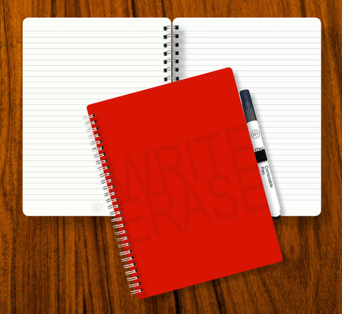 Write Erase Re-Usable Notebook - RED