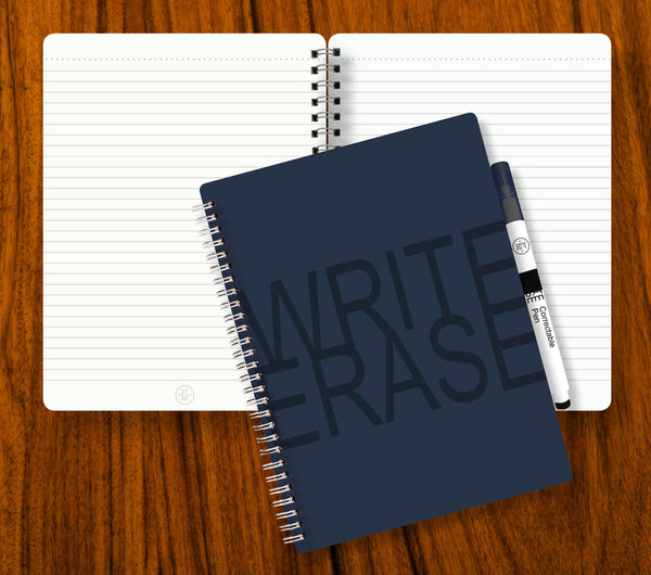 Write Erase Re-Usable Notebook – Blue