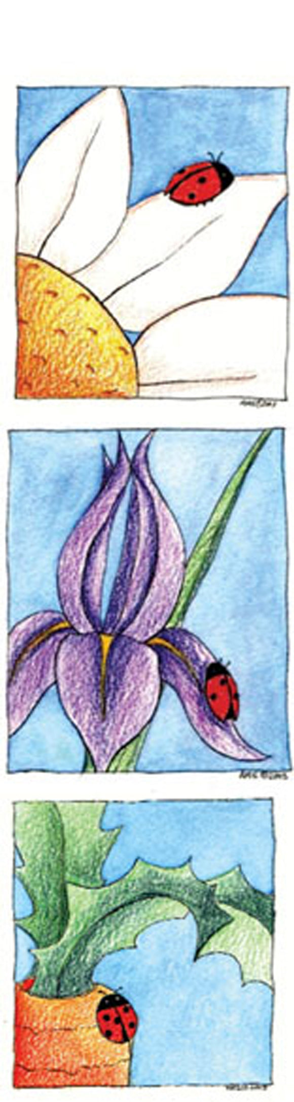 SKU : 15150 - Ladybugs Trio - Tassel Bookmark