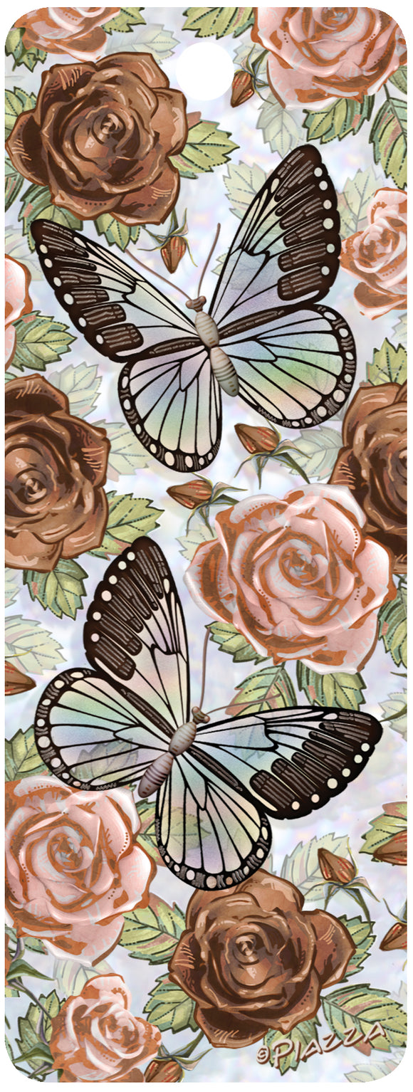 SKU : 16230 - Roses and Butterflies - 3D Bookmark
