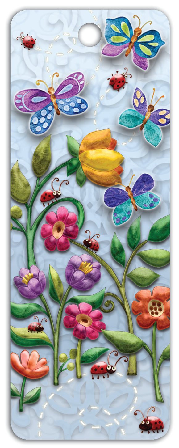 SKU : 16269 - Bugs and Blooms - 3D Bookmark