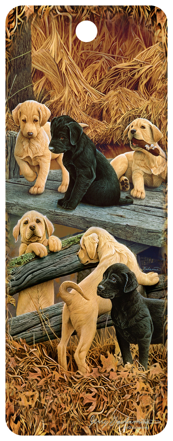 SKU : 16327 - Lab Puppies - 3D Bookmark