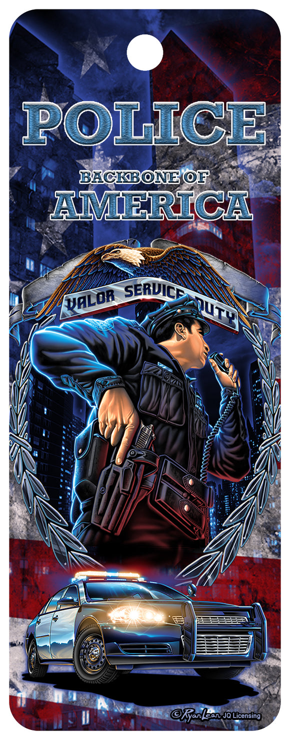 SKU : 16334 - Backbone of America - Police - 3D Bookmark