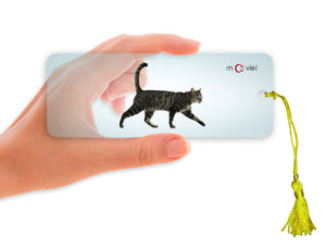 SKU : 16346 - Cat Walking- Clear Motion Bookmark