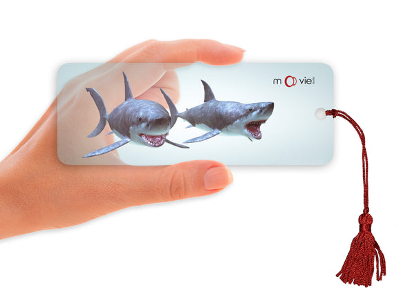 SKU : 16348 - Sharks- Clear Motion Bookmark