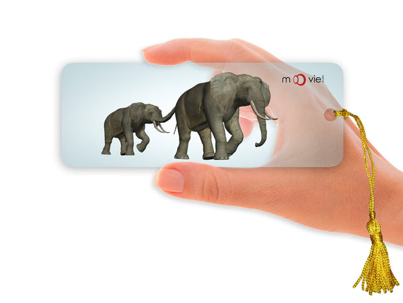 SKU : 16349 - Elephants- Clear Motion Bookmark