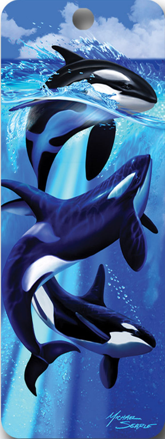 SKU : 16524 - Orcas - 3D Bookmark
