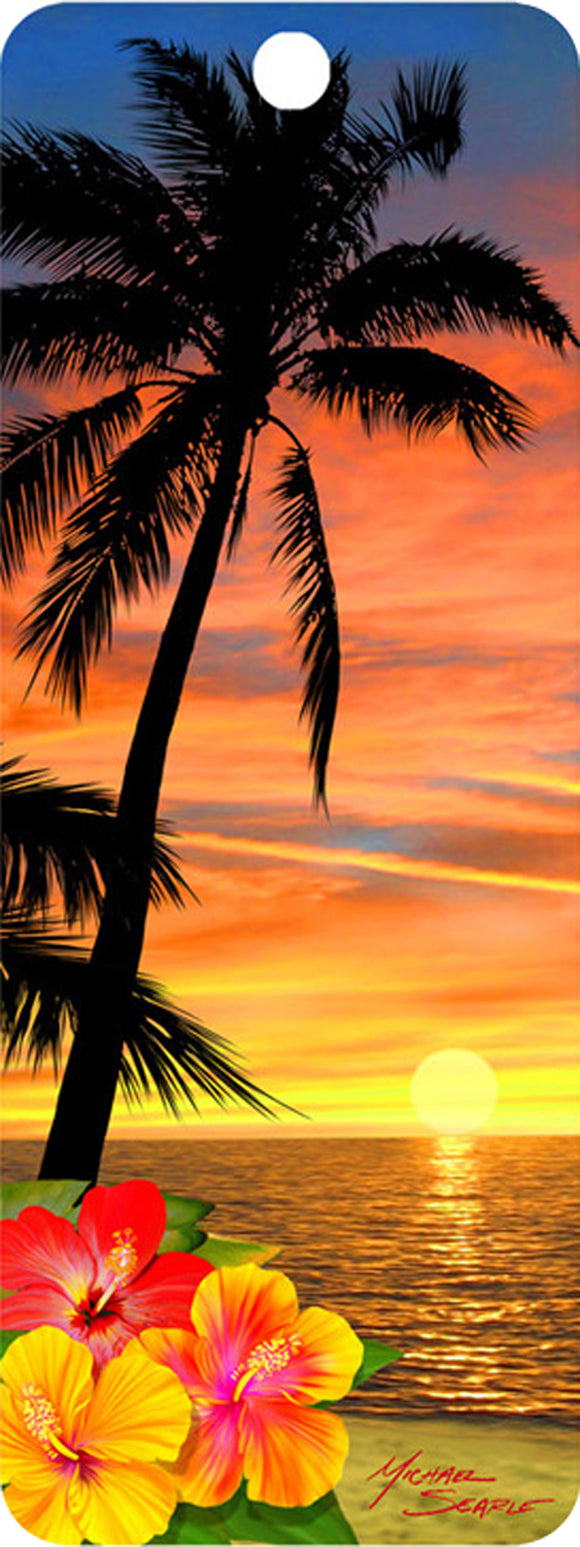 SKU : 16528 - Palm Tree at Sunset - 3D Bookmark