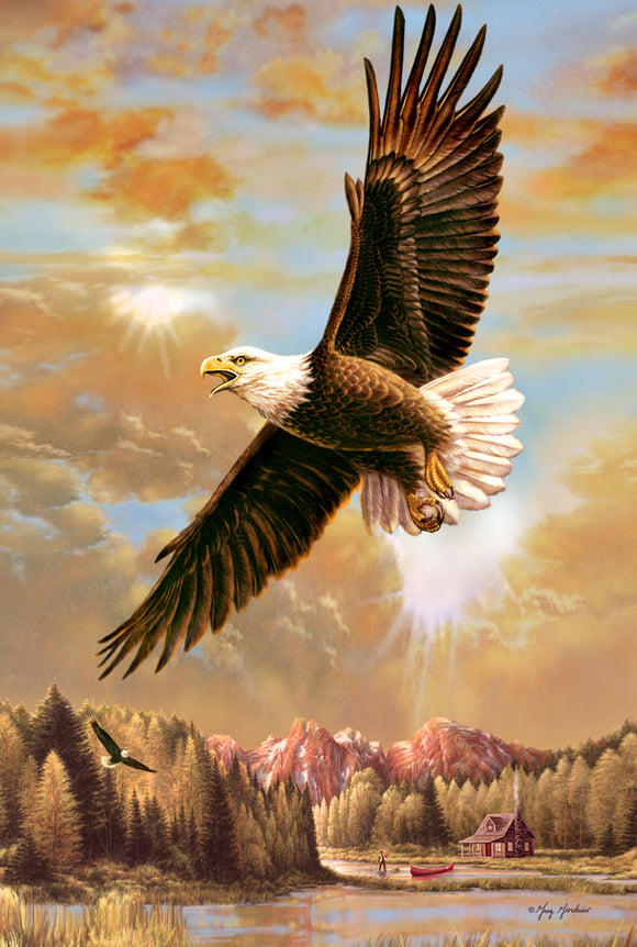 SKU : 20320 - Eagle - 3D Postcard