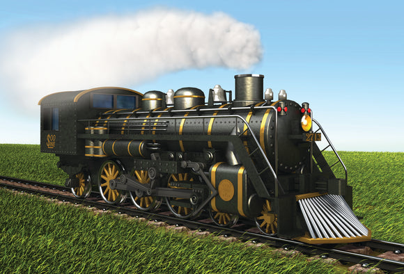 SKU : 20334 - Steam Train - Motion Postcard
