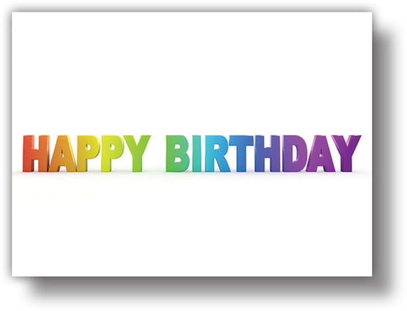 SKU : 20366 - Happy Birthday Letters - Motion Postcard