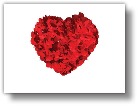 SKU : 20367 - Heart Petals - Motion Postcard