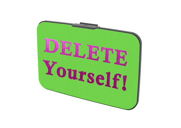 SKU : 30647 - Delete Yourself! - Canvas Security Wallet