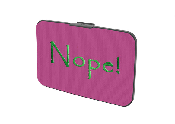 SKU : 30648 - Nope! - Canvas Security Wallet