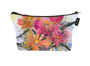 SKU : 30750 - Watercolor Floral - Canvas Accessory Case