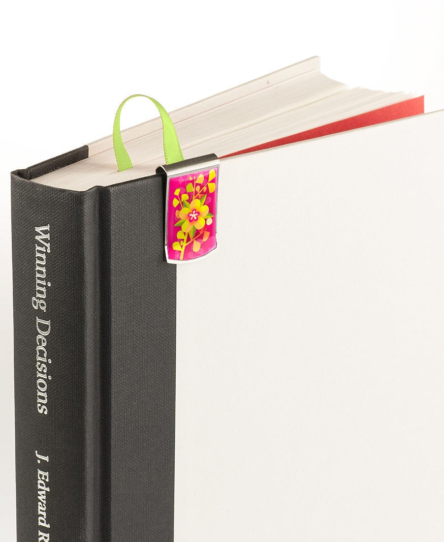 Paradise Flower Bookmark on book