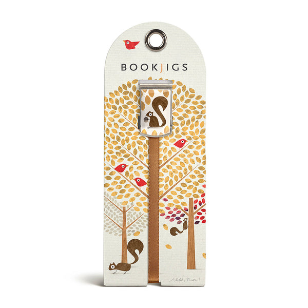 bookjigs bookmark squirrels ahhh nuts