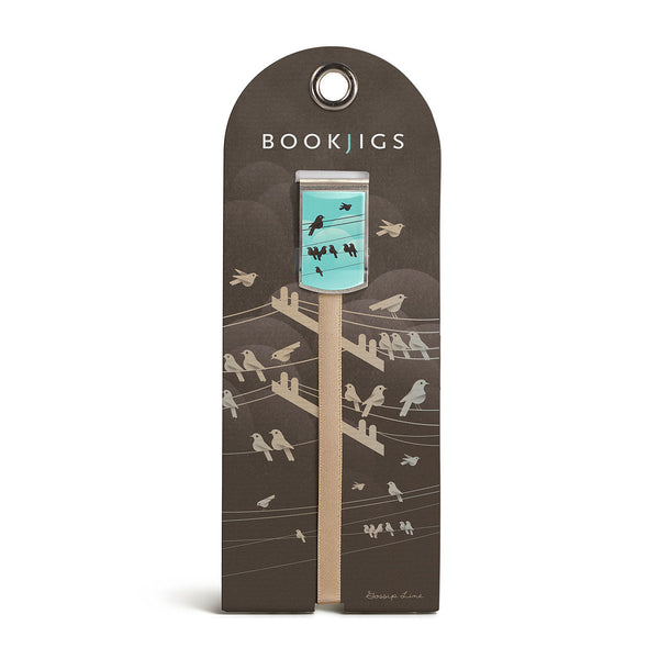 Bookjigs bookmark birds power lines