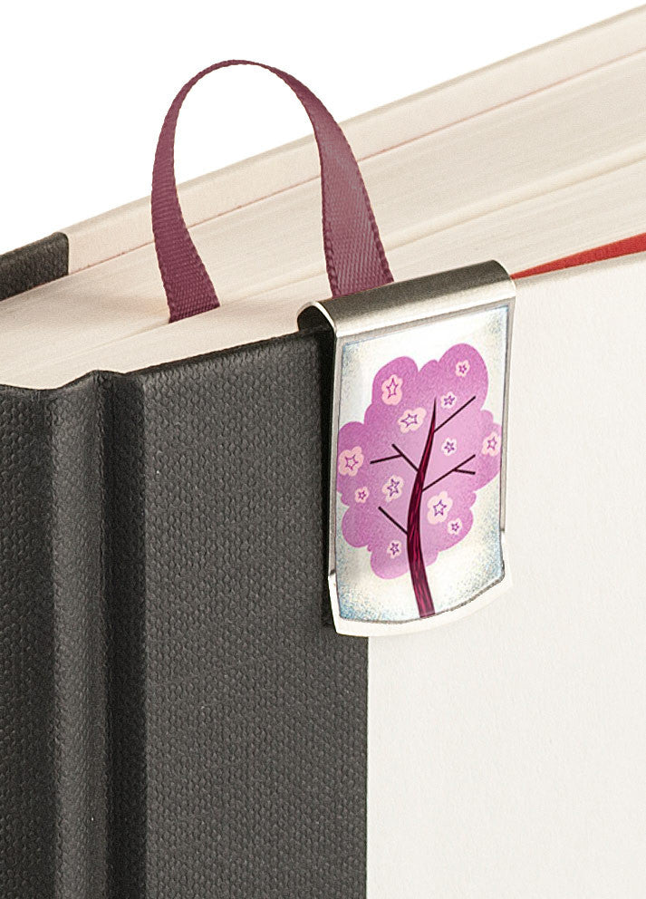 Cherry Blossoms Bookmark up close