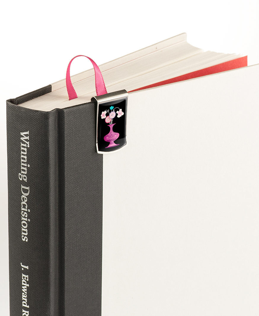 Flower Shop Bookmark on book