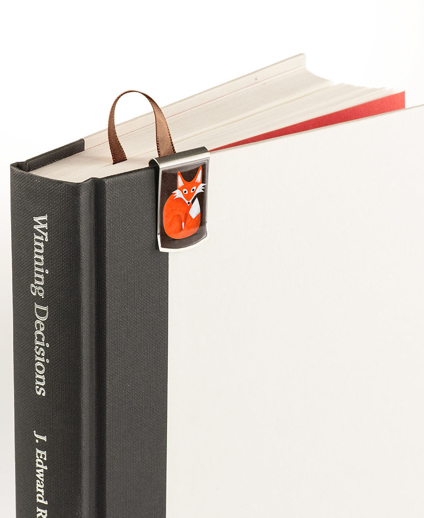 Fox Bookmark on book