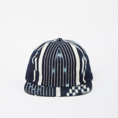 Baulé Vert Stripe Hat (Indigo Collection)