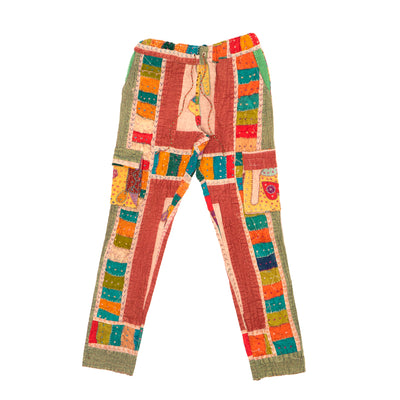 Harun Kantha Cargo Pant (Dusty Green)