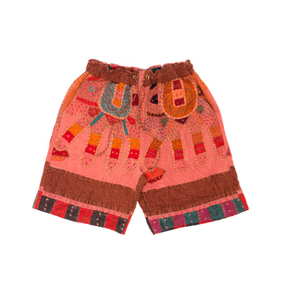 Harun Elephant Kantha Short (Dusty Pink)