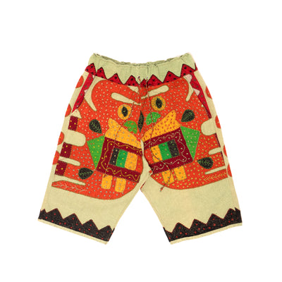 Harun Elephant Kantha Short (Dusty Green)