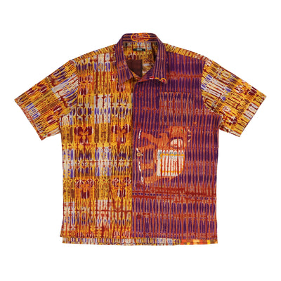 Multipatchwork S/S Shirt (Orange Pattern)