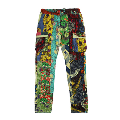 Harun Quilt Cargo Pants (Green Lotus)