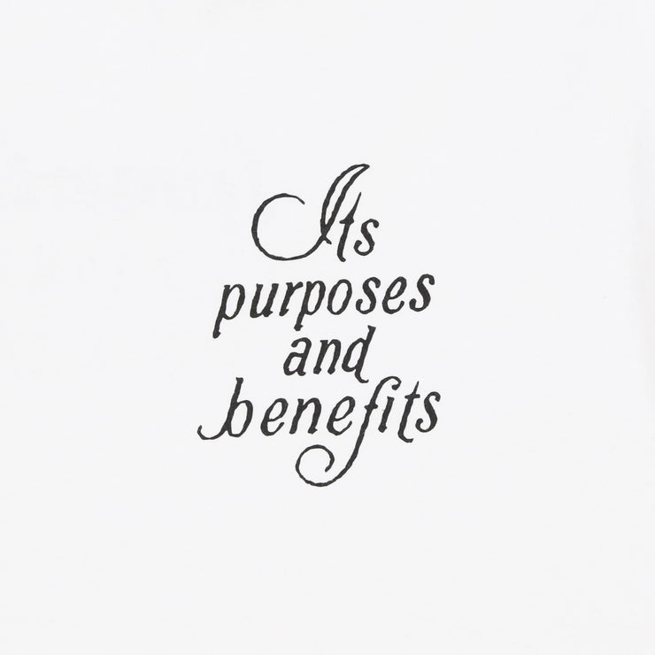 Purpose & Benefits Tee (White)