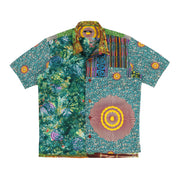 Multipatchwork S/S Shirt (Green Pattern)