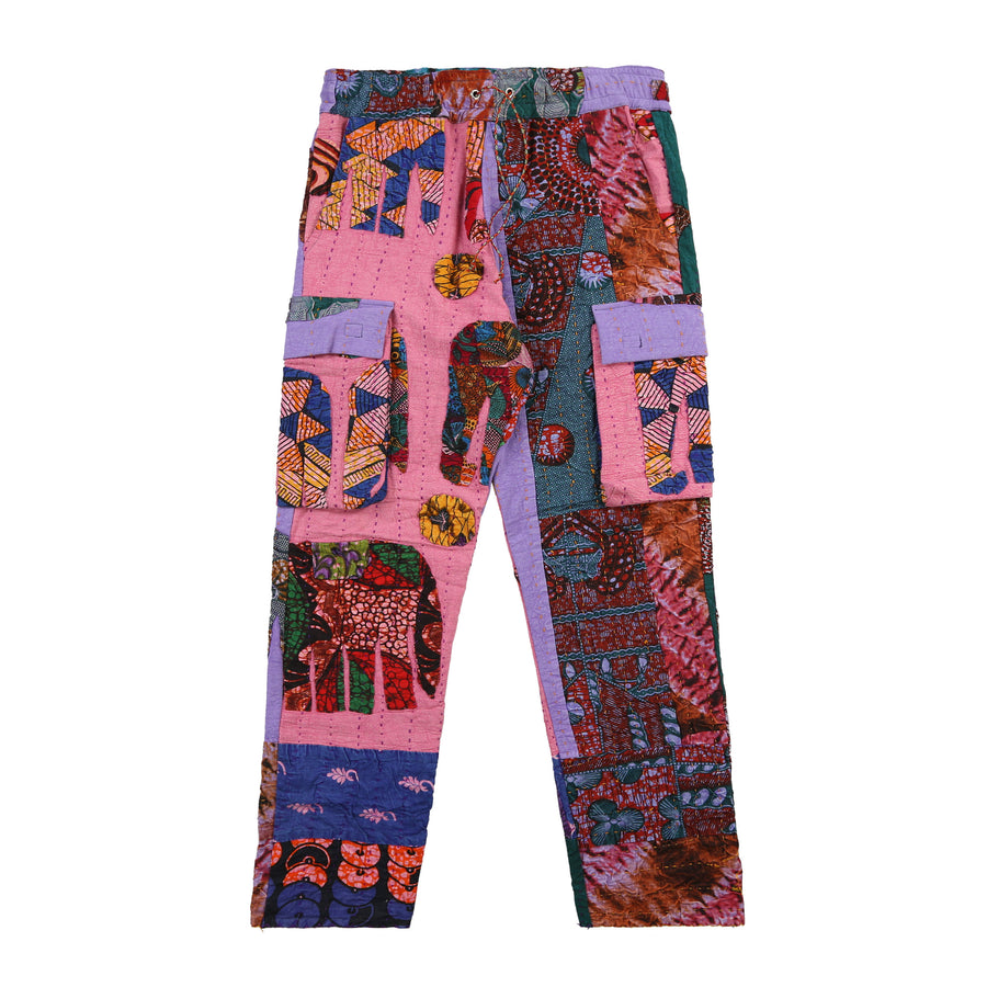 Harun Quilt Cargo Pants (Purple Flower)