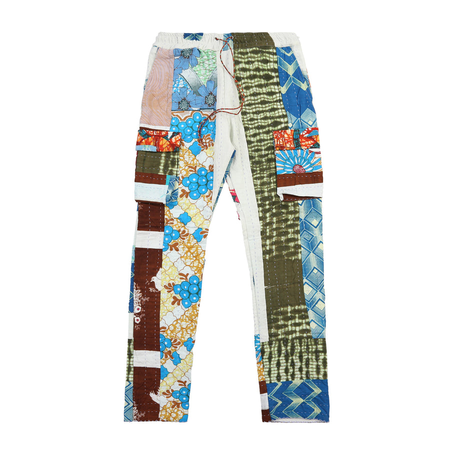 Harun Quilt Cargo Pants (Cream Flower)