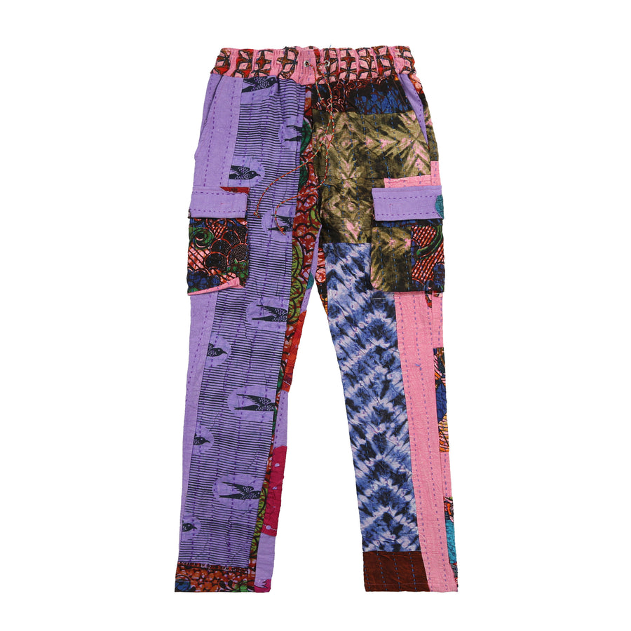Harun Quilt Cargo Pants (Purple Sparrow)