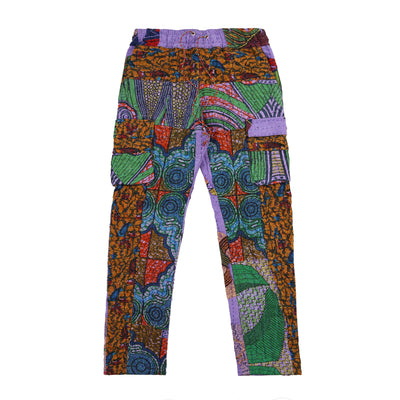 Harun Quilt Cargo Pants (Purple Multi)