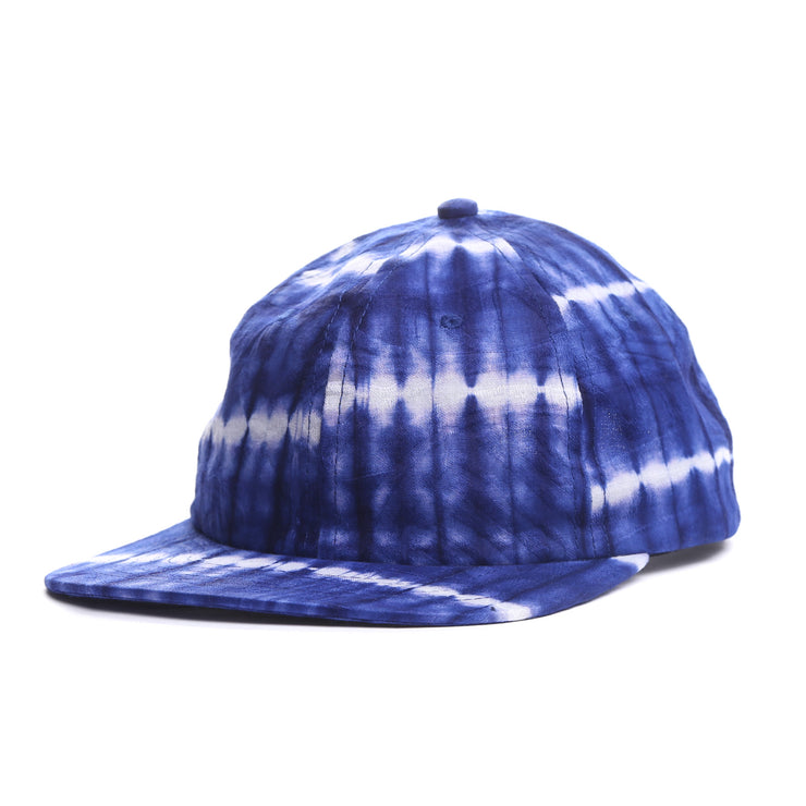 Tie Dye Dot Indigo 6 Panel Hat