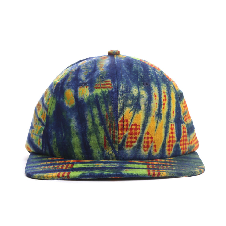 Tie Dye Wax Fabric 6 Panel Hat