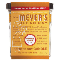 Mrs. Meyer's Soy Candle - Orange Clove - 4.9 oz - Case of 6