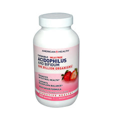 American Health Acidophilus and Bifidus Chewable Strawberry - 100 Wafers