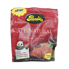 Panda All Natural Licorice Cherry - 6 oz - Case of 12