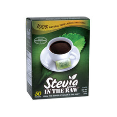 Sugar In The Raw Stevia Extract In Raw Packets - Case of 12 - 50 Packets