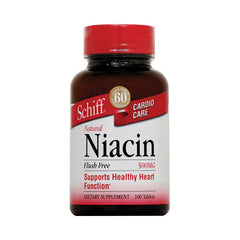 Schiff Niacin Flush Free - 500 mg - 100 Tablets