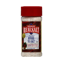 Real Salt Kosher Sea Salt Shaker - Case of 12 - 8 oz