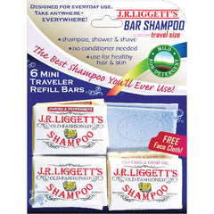 J.R. Liggett's Old Fashioned Bar Shampoo - Mini Traveler Refill - 3.8 oz - Case of 12