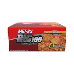 Met-Rx Big 100 Bar - Peanut Butter Cookie Dough - Case of 12 - 100 Grams