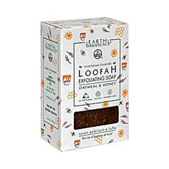 Earth Therapeutics Loofah Exfoliating Bar Soap Oatmeal and Honey - 4.2 oz