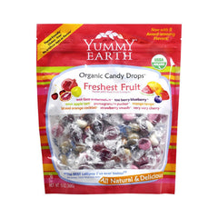 Yummy Earth Organic Candy Drops - Freshest Fruit - 13 oz
